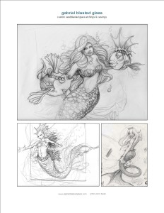 mermaid sketch page