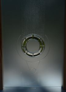 glass carving-detail-charles gabriel-art glass-kiln firing glass-free standing glass-blasted glass-progress trap
