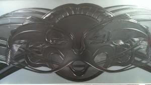 transom detail-glass carving-carved salmon-carved glass-kiln fired glass-frosted glass-charles gabriel-glassworks-temperd art glass-specialty glass-designer art glass for entry glass