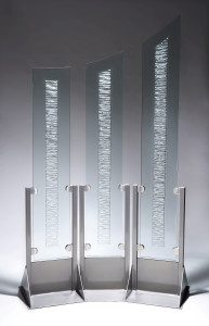 CharlesGabriel-carapace-carved glass-glass art-glass and steel-tempered glass-kiln fired glass-free standing glass sculpture