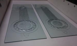 carved glass-art glass-kiln glass-progress trap-charles gabriel-process