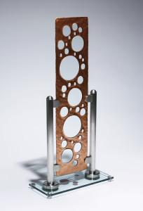 CharlesGabriel-gasket-carved glass-free standing art glasswork-