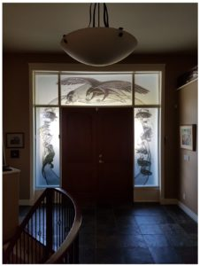 carved glass-etched glass- tempered glass-kiln fired glass-installed specialty glass-residential entry glass-archiectural glass-carved glass eagle-carved glass fish-carved glass otter